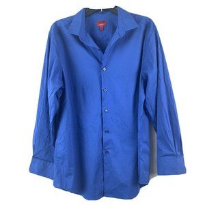 Alfani Mens Slim Fit Button Down Shirt Size Large